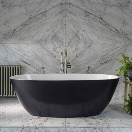 Victoria And Albert Volcanic Limestone Modern Freestanding Baths