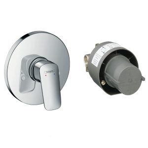 Logis Manual shower mixer set for concealed installation