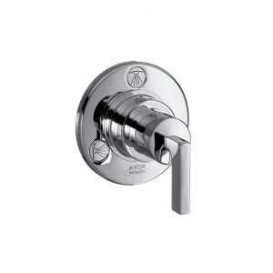 Trio/ Quattro shut-off/ diverter valve for concealed installation with lever handle