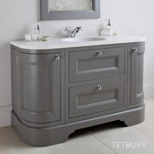 Tetbury Curved Vanity Unit With 2 Doors & 2 Drawers