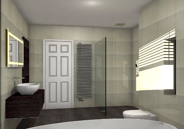 articad 3d bathroom rendered design