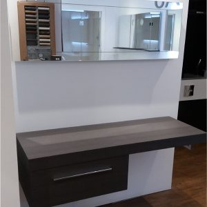 Ambiance Bain Counter Top Charcoal Oak Finish And Mirror